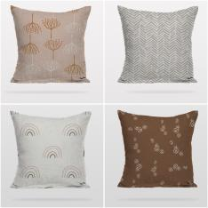 Minimal PAstel Colors 4 Pieces Pillow Cover Set