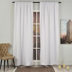 White ''Single Panel'' Blackout Curtain