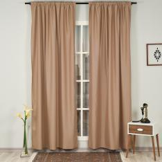 Taupe ''Single Panel'' Blackout Curtain