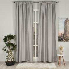 Grey ''Single Panel'' Blackout Curtain