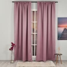 Rose Pink ''Single Panel'' Blackout Curtain