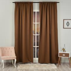 Brown ''Single Panel'' Blackout Curtain