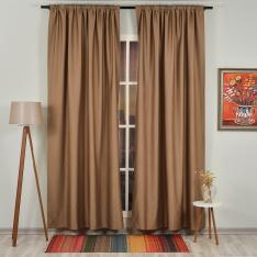 Dark Beige ''Single Panel'' Blackout Curtain
