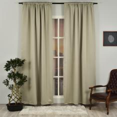 Sandstone ''Single Panel'' Blackout Curtain