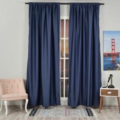 Navy Blue ''Single Panel'' Blackout Curtain