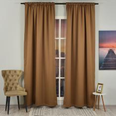Mocha ''Single Panel'' Blackout Curtain