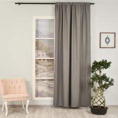 Orlof ''Single Panel'' Decorative Curtain-Light Grey