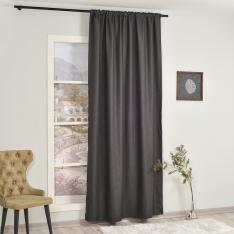 Orlof ''Single Panel'' Decorative Curtain-Anthracite