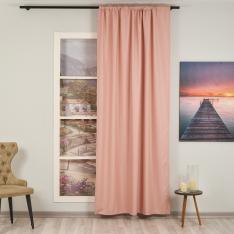 Orlof ''Single Panel'' Decorative Curtain-Baby Pink