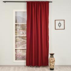 Orlof ''Single Panel'' Decorative Curtain-Burgundry