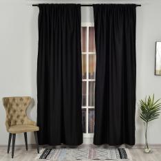 Black ''Single Panel'' Blackout Curtain