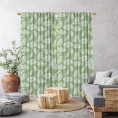 Decorative Bohemian Feather Pattern Single Pattern-Green