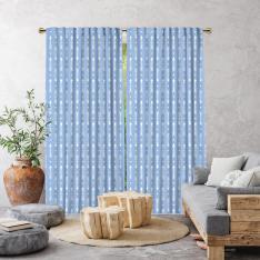 Bohemian Arrows Single Panel Curtain-Baby Blue