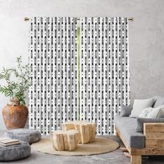 Bohemian Arrows Single Panel Curtain-White